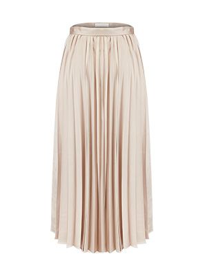shiny pleats skirt